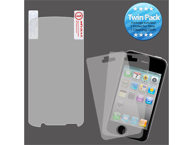 2x LCD Screen Cover Protector Film with Cloth Wipe for Motorola Atrix 2