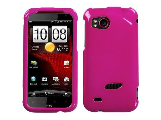 Solid Hot Pink Snap on Cover Protector Case for HTC Rezound ADR6425