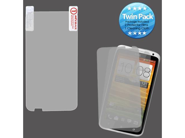 2x LCD Screen Cover Protector Film with Cloth Wipe for HTC One X, X+