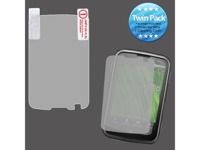 2x LCD Screen Cover Protector Film with Cloth Wipe for PANTECH: P6030 Renue