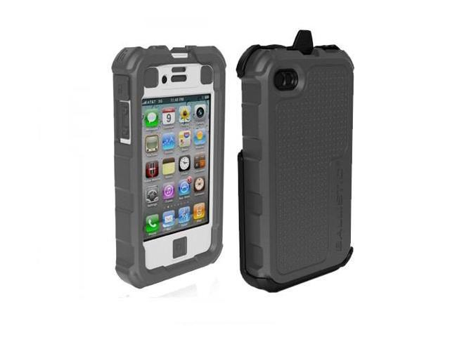 Ballistic HA0778-M185 Hard Core Case w/Holster for Apple iPhone 4/4S -Gray/White