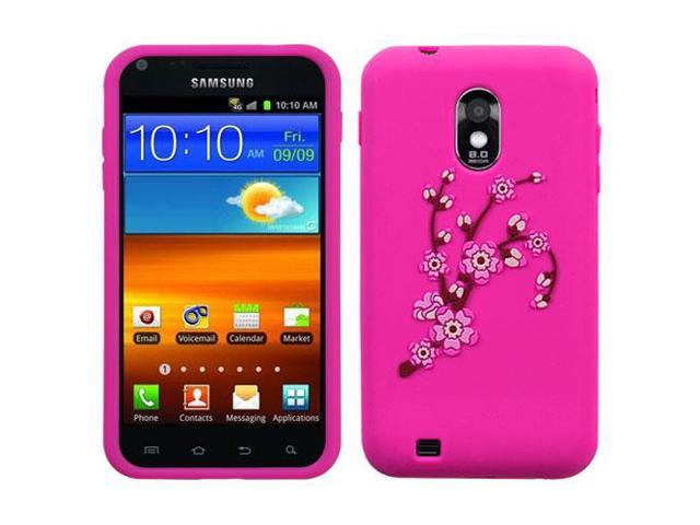 For Epic 4G Touch Galaxy S2 Spring Flowers/Hot Pink Pastel Skin Cover