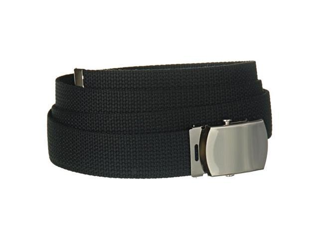 Black Adjustable Canvas Belt 2210
