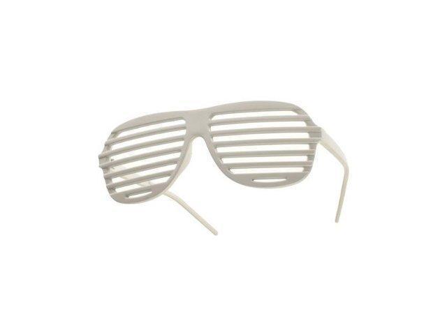 White Shutter Shades - Hip Hop Sunglasses