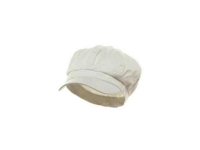 White Newsboy Cap