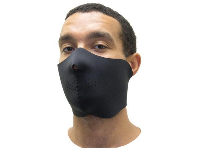 Black Neoprene Half Face Mask