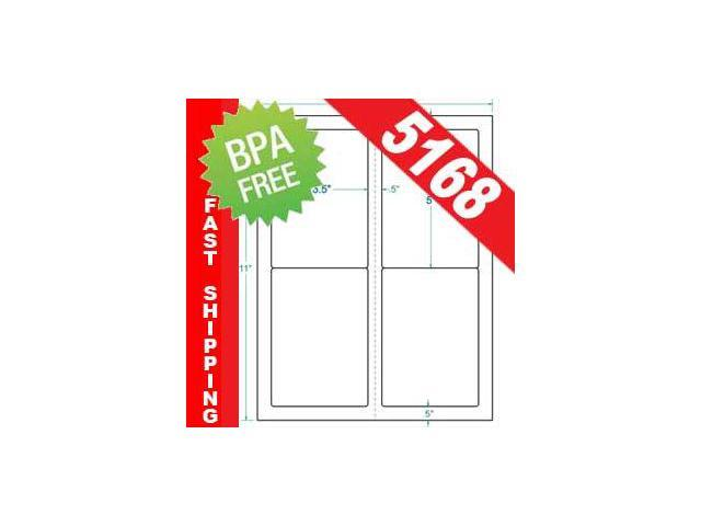 100 half sheet shipping address labels compatible with avery template 5126 50 sheets of blank. Black Bedroom Furniture Sets. Home Design Ideas