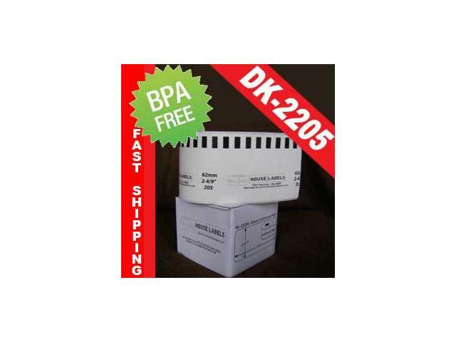 1 Roll of BROTHER-compatible DK-2205 Continuous Labels (2-3/7in x 100ft; 62mmx30.48m) in Mini-Cartons [BPA FREE]