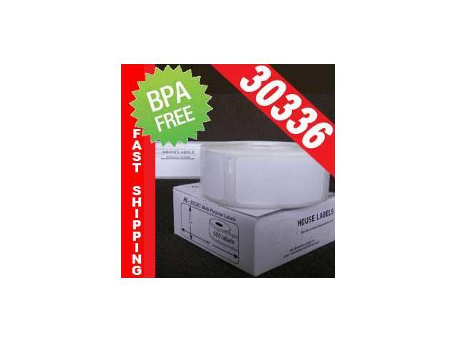 1 Roll of 500 DYMO-compatible 30336 Removable Multipurpose Labels (2-1/8in x 1in) in Mini-Cartons [BPA FREE]