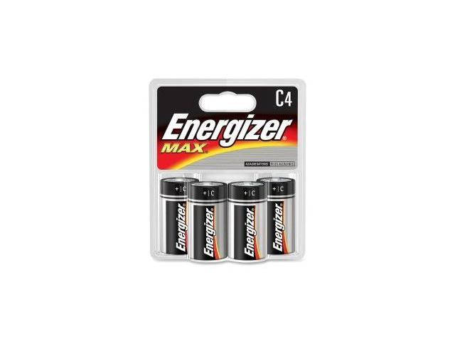 C Size Battery , Energizer Max , Premium Alkaline Battery , 4/Pack Evee93Bp4 -
