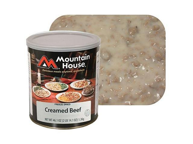 Mountain House Freeze Dried Creamed Beef Case Of 6 #10 Cans -