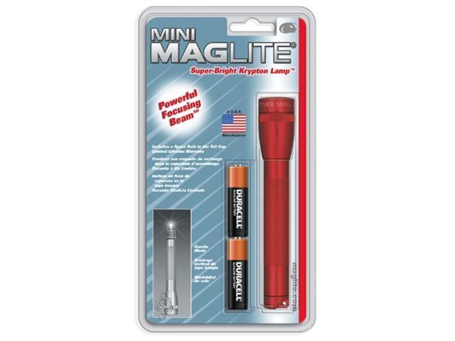 Maglite M2A036 Hang Pack Mini Aa Flashlight, Red -