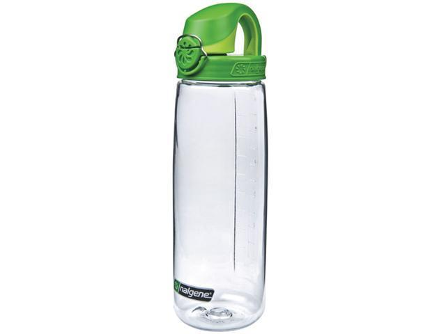 Nalgene On The Fly Water Bottle (Clear With Green Cap) -