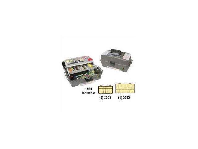 Flambeau Tackle 2 Tray Kwikdraw Tackle Box (Green, 18X10X9.75-Inch) - 2 Tray Utility System Box