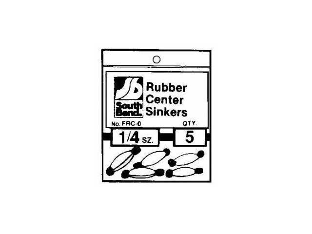 South Bend Rubber Center Sinker (3/8 Oz.) - Rubbercenter 3/8 Oz