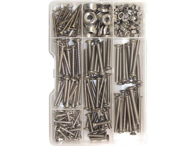 Shoreline Marine Screw Kit Stainless Steel (168 Pieces) - Screw Kit Ss 168Pc