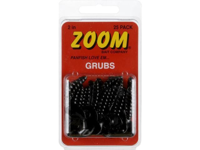 Zoom Unrigged Grubs 2 inch Black