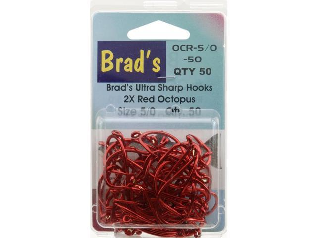Brad 39 s killer fishing gear red hook 50pk sz 5 0 ocr 5 0 50 for Brad s killer fish