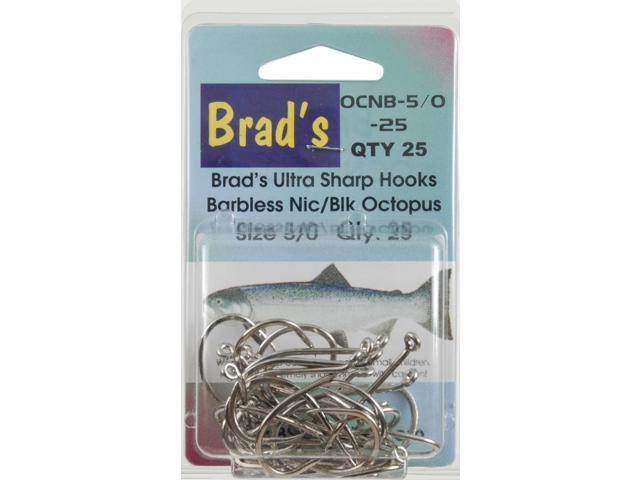 Brad 39 s killer fishing gear nic oct brbless hook 5 0 25 pk for Brad s killer fish