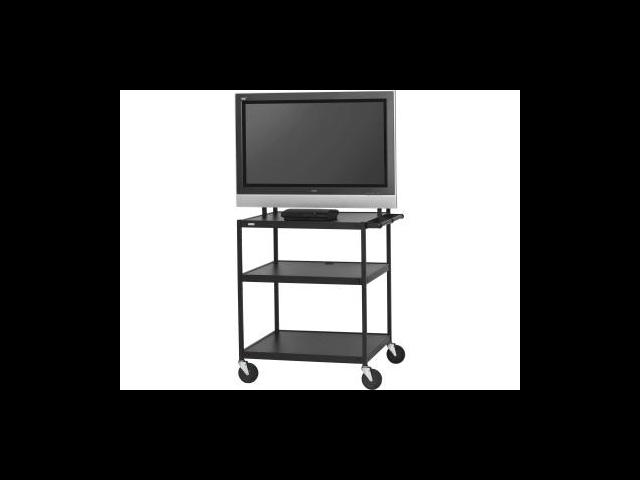 "Bretford FP42UL-P5BK 26"" - 42"" Black Flat Panel Cart for Monitors"