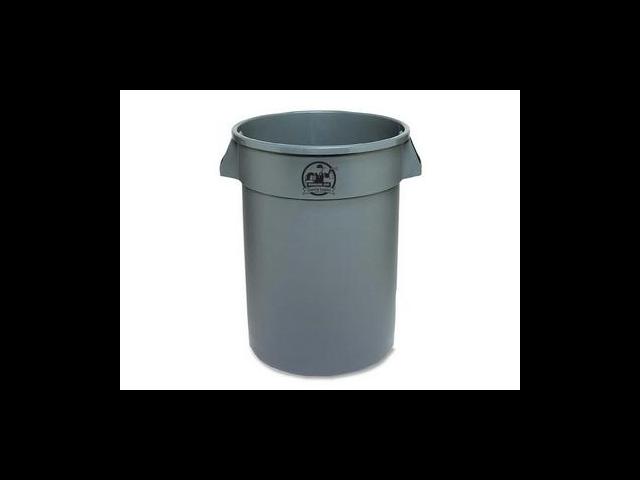 Trash Containers Heavy-duty 32 Gallon Gray