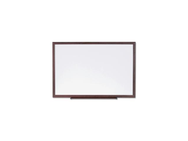 Dry-Erase Board Wood Frame 3'x2' Brown/White