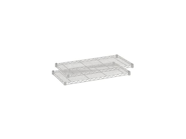 Safco 5293GR 2 Pack Wire Shelf
