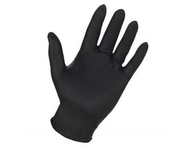 Nitrile Gloves 6Mil Small 100/BX Black