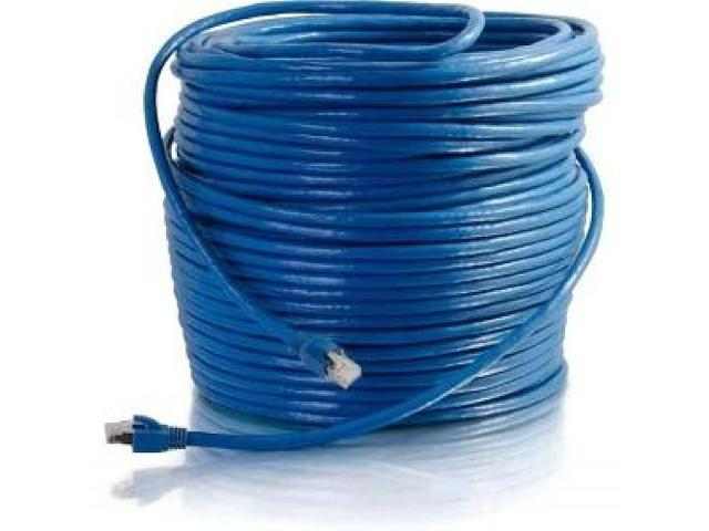 300ft Cat6 Blue Solid Shielded Patch Cable