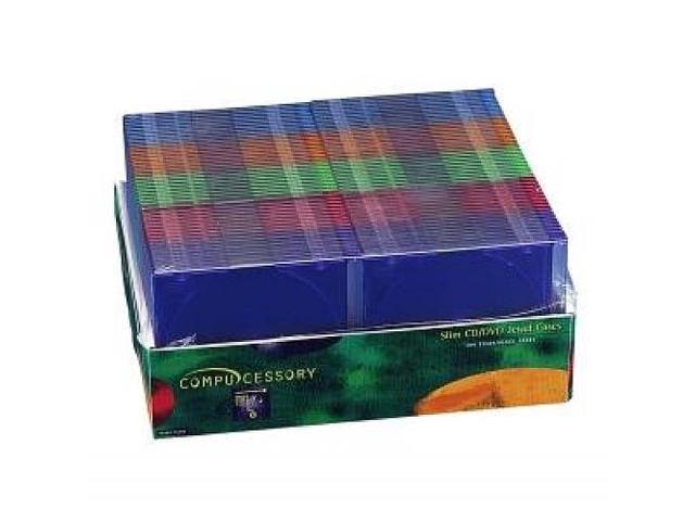 Thin CD/DVD Jewel Case One CD W/Literature 100/PK AST