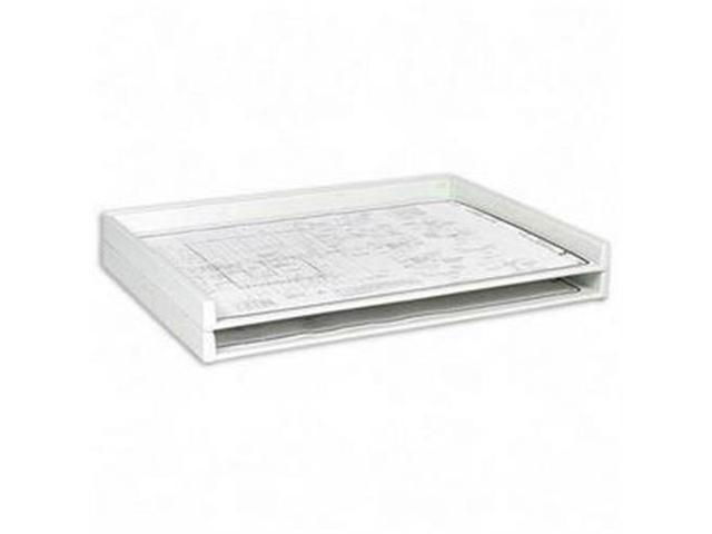 Safco Products Company SAF4899 Stacking Trays- 40 lb Capacity- 45-.25in.x34in.x3in.- White