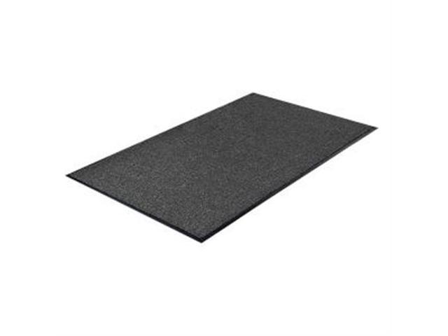 Indoor Mat Moisture Absorbent Vinyl Back 4'x6' Charcoal