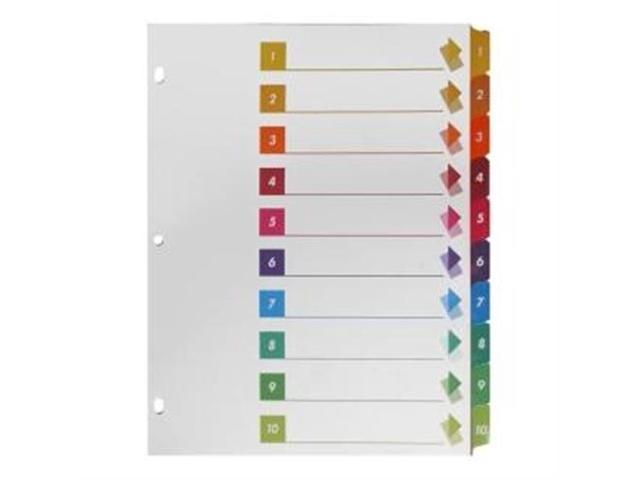 Index Dividers W/Table Of Contents 1-10 10 Tab 24/ST Multi