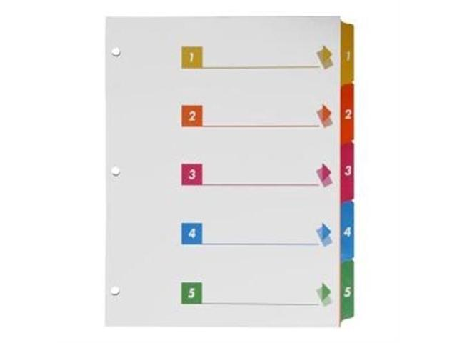 Index Dividers W/Table Of Contents 1-5 5 Tab 24/ST Multi