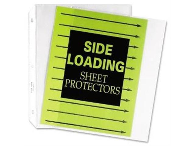 C-Line Products- Inc. CLI62313 Side-Loading Sheet Protectors- 8-.50in.x11in.- Clear