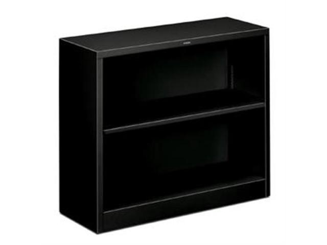 "HONS30ABCP 2 Shelf Metal Bookcase, 34-1/2""x12-5/8""x29"", Black"