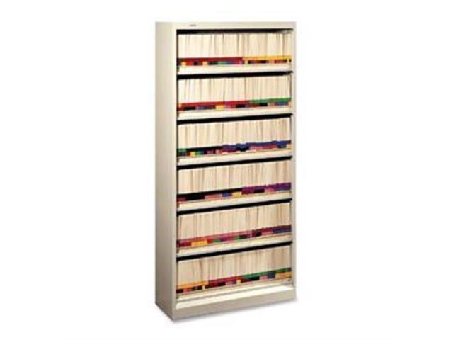 "HON626NL 6-Shelf Open File, Letter, 36""x13-3/4""x75-7/8"", Putty"
