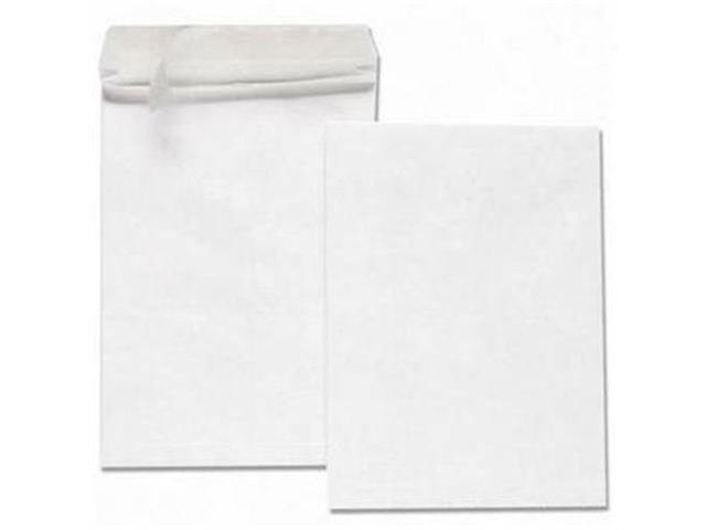 Quality Park Products QUAR4292 Tyvek Open-End Envelope- Plain- 12in.x16in.x2in.- White