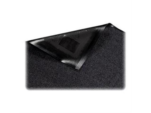 Indoor Wiper Mat Nylon Carpet Rubber Back 4'x6' Black