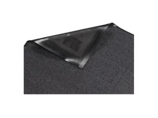 Indoor Wiper Mat Nylon Carpet Rubber Back 4'x6' Gray