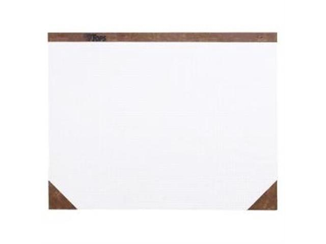 TOPS Quadrille Desk Pads Paper - White