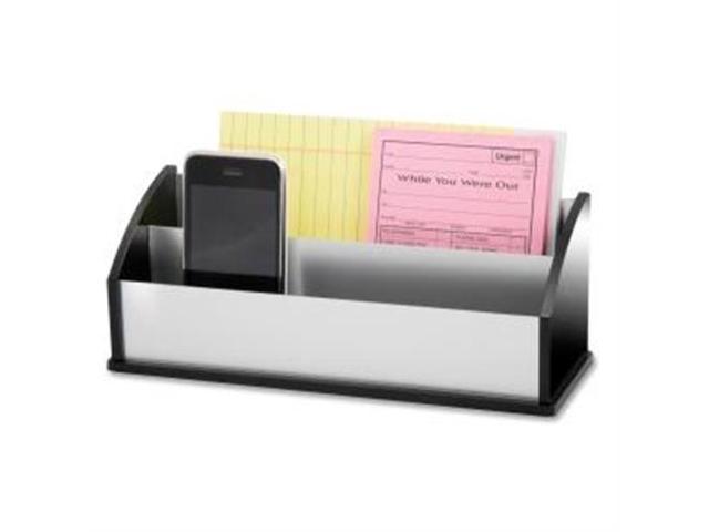 Kantek KTKBA350 Letter-Message Sorter- Black Acrylic-Aluminum