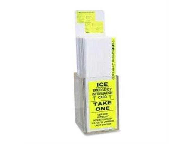Emergency Inoformation Card Display, 150 Cards, FL/Yellow