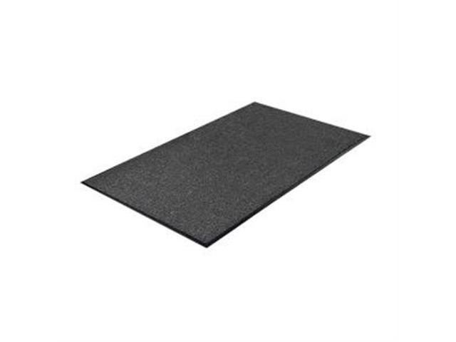 Indoor Mat Moisture Absorbent Vinyl Back 3'x5' Charcoal