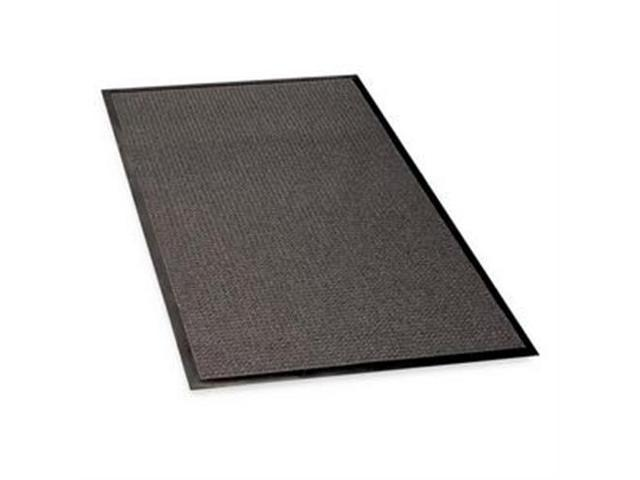Indoor/Outdoor Mat, Rubber Cleated Backing, 4'x6', Charcoal GJO59476