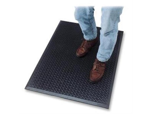 Anti Fatigue Mat Rubber Beveled Edge 3'x5' Black