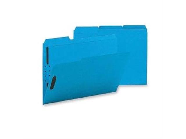 Fastener Folders w/ 2-Ply Tab 1/3 Ast Tab 50/BX Ltr Blue