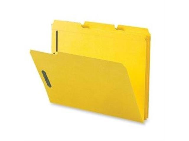 Fastener Folders w/ 2-Ply Tab 1/3 Ast Tab 50/BX Ltr Yellow