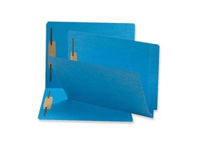 Fastener Folders 2-Ply End Tab 2 Fastener Letter 50/BX Blue