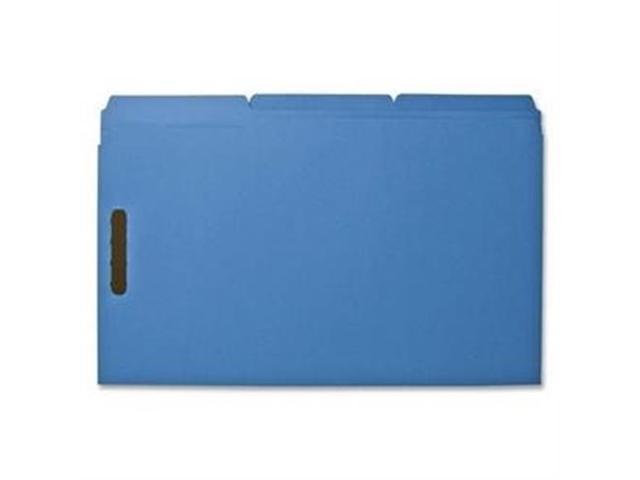 Fastener Folders w/ 2-Ply Tab 1/3 Ast Tab 50/BX Lgl Blue